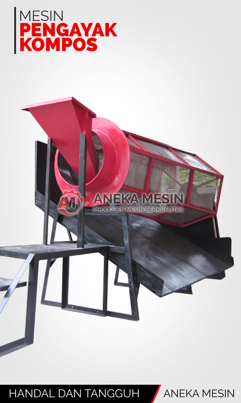 mesin pengayak kompos