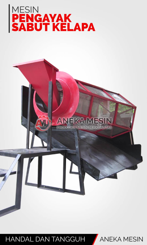 mesin pengayak sabut kelapa